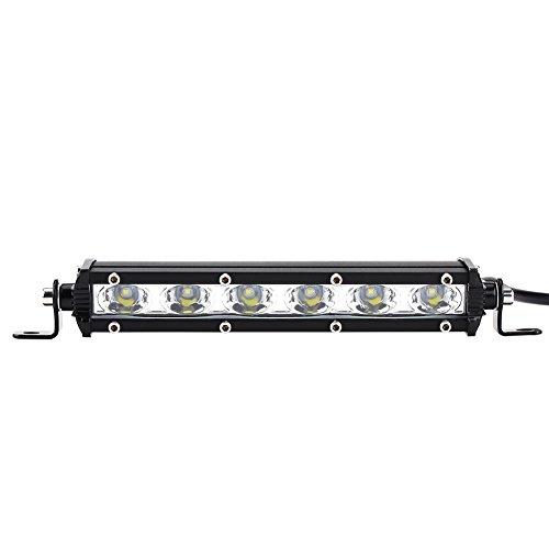 Qiilu 7inch 6 LED 30 W 6000LM voiture travail barre de lumière barre toit conduite spot lampe d'inondation 9-36 V