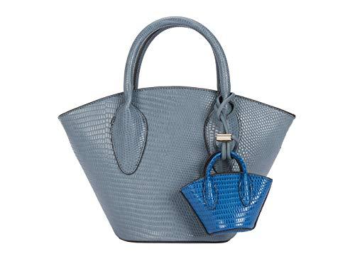 Parfois - Bolso Tote Grabado Animal - Mujeres - Tallas M - Azul