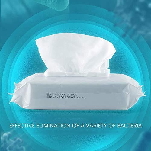 FANPING Antibakteriell 75% Alkoholtupfer for Hand, Tel.-Bildschirm, Wunde, Packung mit 50 Stück, Antiseptikum und Einweghandalkoholtupfer for Reinigung Bakterien und Schadstoffe, Sanitär Antibakteriel - 2