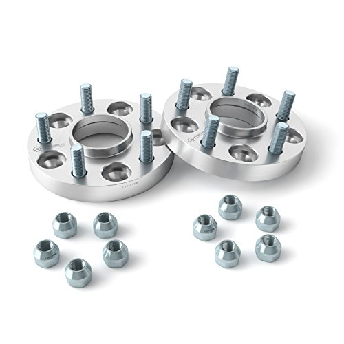1 inch Hubcentric Wheel Spacers (5x4.25, 63.4mm Bore, 12x1.5 Studs) Compatible...