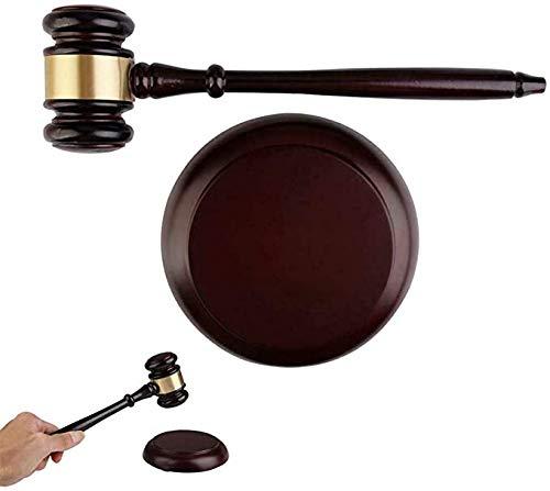 Martillo de subastas, de madera hecha a mano de madera y bloque redondo conjunto para abogado, estudiante, juez, subasta, reunión de enseñanza, regalos únicos #PMC