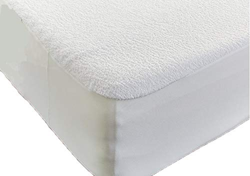 Haani High Quality Terry Towel Towelling 100% Waterproof Fitted Sheet Mattress Protector (Bunk Bed 76 x 190 cm)