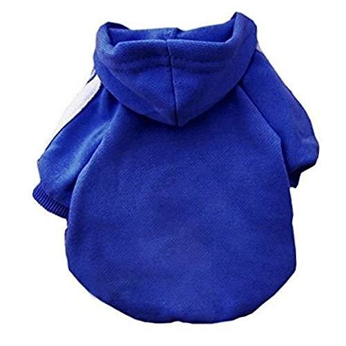 Eastlion Adidog huisdier puppy hond kat jas kleding hoodie trui kostuums, XXL, Donkerblauw