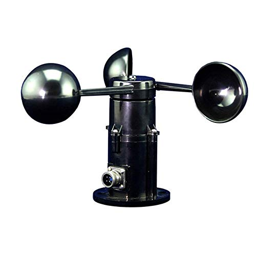 YASE-king Anemometersensor High Precision Wind Cup Poly Carbon DREI Cup Typ Mess Anemometer Transmitter (Farbe: Schwarz)