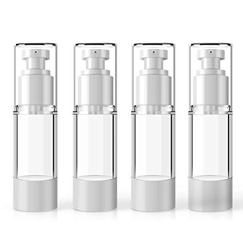 MYLL Kunststoff Airless Pumpspender Leer   Flasche mit Spender Vakuum Kosmetik Behälter - für Tiegel, Lotion Spender, Creme Spender Nachfüllbar (30ml)