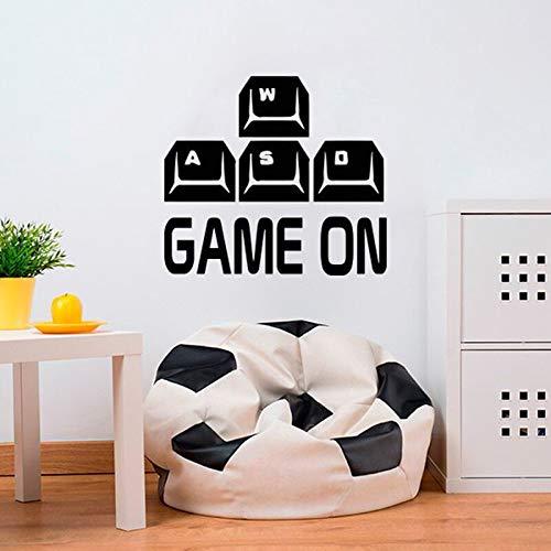 Juego pegatinas de pared calcomanías elegir armas jugadores ofrecen controladores videojuegos niños dormitorio pared pegatinas de fondo es A6 57X51cm