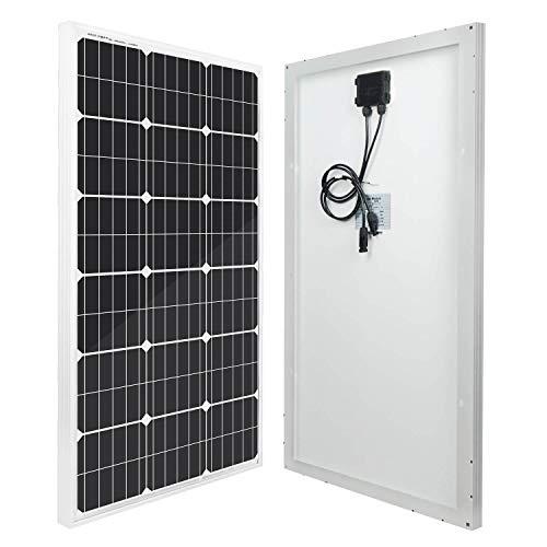 ECO-WORTHY panel solar monocristalino de 100 W y 12 voltios para caravana, barco, 12 V
