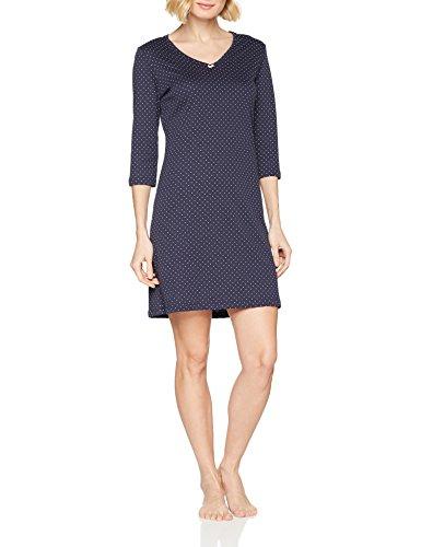 Huber Damen Nachthemden 24 Hours Women Sleep Sleepshirt 3/4 Arm, Blau (Indigo 016152), 44