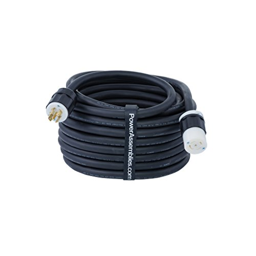 Power Assemblies PowerTEK NEMA Assemblies Extension, UL Listed/CSA Certified, 30A 120/208VAC, 10/5 Gauge, Type SOOW-A Cable, NEMA L21-30, 25' Length, Portable Power Cords and Control Cable