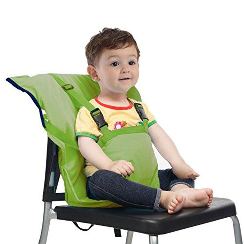Asiento elevador para bebé, silla de bebé, silla de comedor, silla de bebé, móvil, portátil, plegable y portátil. (Verde)