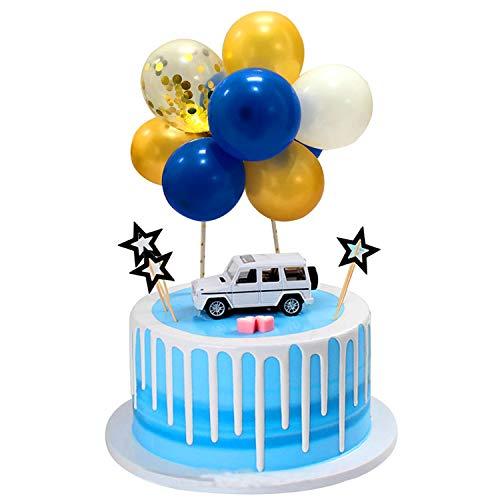 Xnuoyo Palloncino Lattice Topper Torta Compleanno Cake Topper Con Palloncino Decorazione Torta Di Compleanno Per Compleanno Di Ragazzi E Ragazze, Matrimonio, Festa A Tema