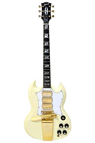 Gibson SG Custom Maestro - Classic White - Heavy Aged