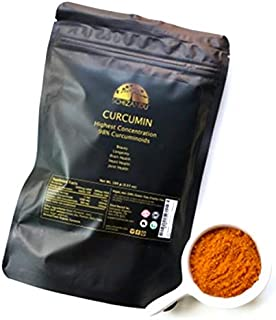 Curcumin Highest Strength 98% Concentration Extract from Turmeric, 100 gm Pure Organic Antioxidant Suppleme...