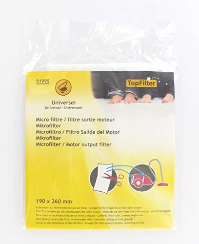 FACKELMANN Top Filter Staubsauger Microersatzfilter, zuschneidbar