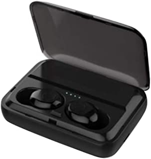 Wireless Headphones,Wireless Earbuds Q32 Waterproof Wireless Stereo Bluetooth V5.0 Ear Buds Earphones with Charge Box - Black