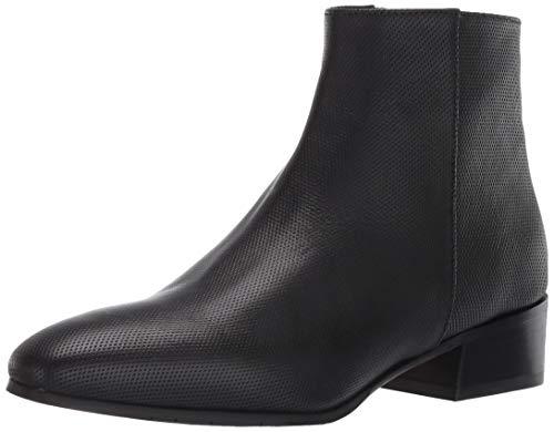 Aquatalia Womens Fuoco Embossed Calf Ankle Boot, Black, 6 Medium US