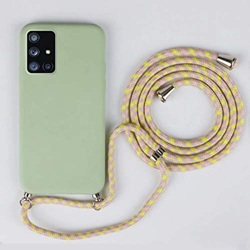 JMstore Funda Compatible con Samsung Galaxy S7 Edge Silicona Líquida con Colgante/Cadena.Protectora ponible Cordón Cruzado Correa Cuello Cordón