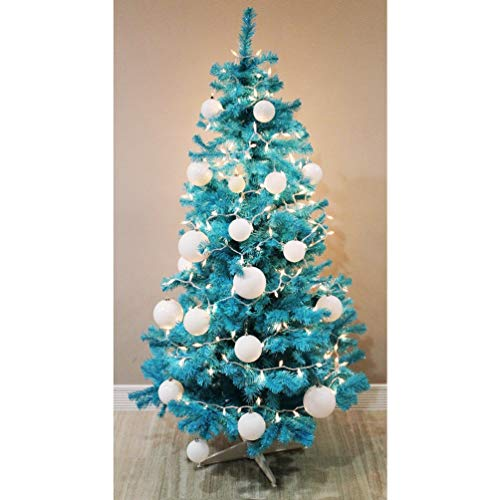 Homegear 6FT Artificial Turquoise Christmas Tree Xmas Decoration