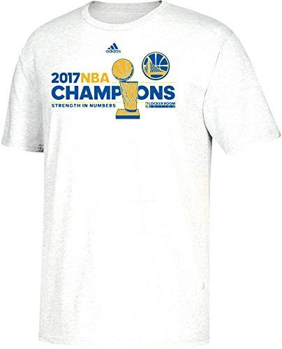 adidas Golden State Warriors 2017 NBA Finals Champions Official Locker Room Camiseta blanca, S, Blanco