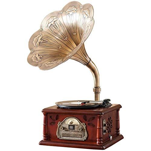LY-Gramófono Fonógrafo Retro Reproductor De Discos De Vinilo ...