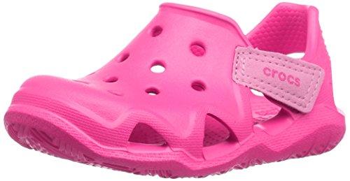 Crocs Kids' Swiftwater Wave Slip-On Sandal, Neon Magenta, 10 M US Toddler
