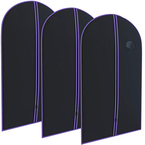Purple Suit Garment Travel Bags 3 Pack - 40' X 24' - By Your Bags