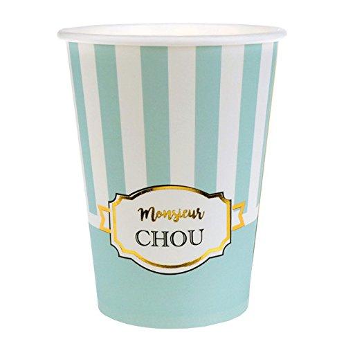 Chal - 10 Gobelets carton Baby Shower vert