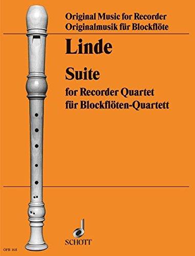Suite: 4 Blockflöten (SATB). Partitur und Stimmen. (Edition Schott)