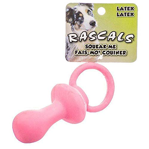 Coastal Pet Rascals Latex Pacifier Dog Toy | Pink | 4.5-Inch Long