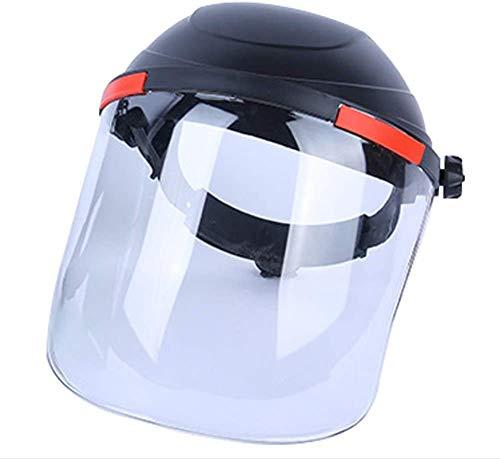 Transparenter Sicherheits-Gesichtsschutz, Schutzhelm, Visier, Anti-Beschlag, für Kettensäge, Garten-Erkennung, Freischneider B
