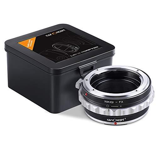 K&F Concept® Nikon AI(G)-FX Adapterring Objektivadapter Objektiv Adapterring für Nikon G/F/AI/AIS/D Objektiv auf Fujifilm Fuji FX Kamera mit Blendenring