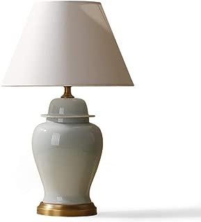 WFM American Ceramic Table Lamp Living Room Simple Desk Lamp Bedroom Bedside Lamp (Size : S)