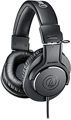 Audio-Technica ATH-M20x Professional Studio Monitor Headphones, Black by audio-technica
