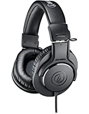 audio-technica プロフェッショナルモニターヘッドホン ATH-M20x スタジオレコーディング / 楽器練習 / ミキシング / DJ / ゲーム ブラック