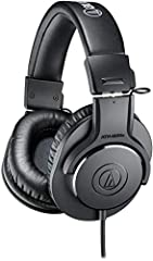 Advanced build quality and engineering; Designed for studio tracking and mixing 40 millimeter drivers with rare earth magnets and copper clad aluminum wire voice coils Tune for enhanced low frequency performance Circumaural design contours around the...