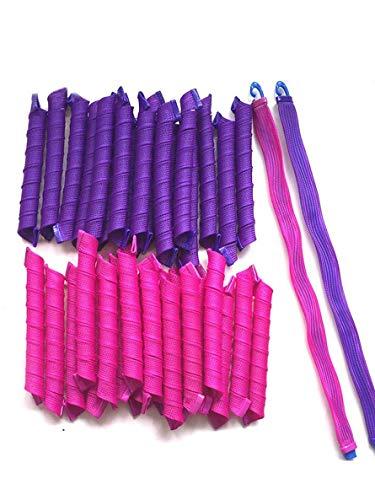 Bigodini - ricci a spirale senza calore - capelli fino a 55cm - 40 pezzi + 2 uncini