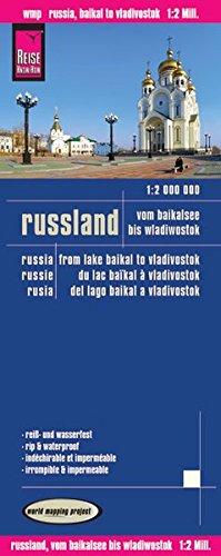 Rusia: Del Lago Baikal a Vladivostok, mapa impermeable de carreteras. Escala 1:2.000.000 impermeable. Reise Know-How. (12m)