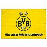 Borussia Dortmund, BVB-Balkonfahne, Schwarz/gelb, 150x100cm