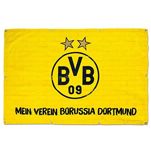 500/x 20/x 5/cm Borussia Dortmund BVB 17100100/Guirlande de Fanion Noir//Jaune