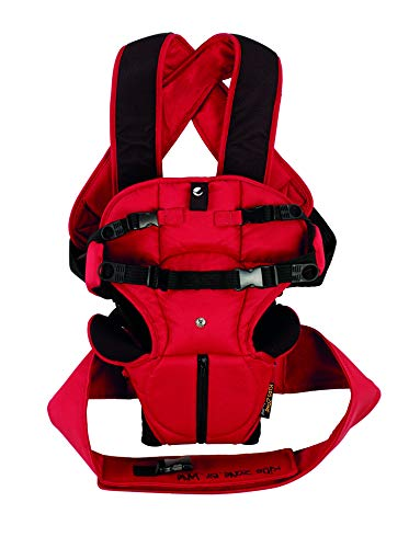 Jané Travel Mochila Portabebé, de 3,5 a 15 kg., con Reposacabezas y Babero, Color Red