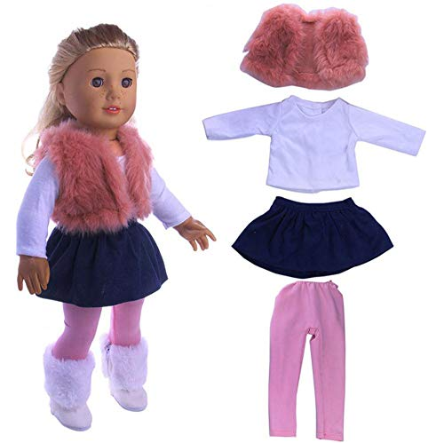 DUORUI Puppenkleid Kleid Winter Outfit für American Girl Doll 18 Zoll