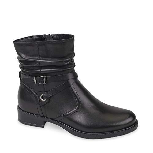 Valleverde 47521 Stiefeletten Schuhe, Texanische Stiefeletten Damenleder Made in Italy