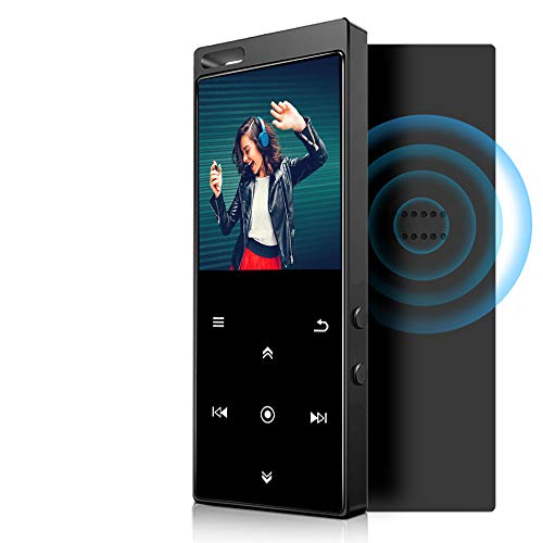IHOUMI 32 GB MP3 Player Bluetooth 4.2 with Lossless Sound FM Radio, Voice Recording, E-Book Functions, 1.8 Inch Sport MP3 Player with Lanyard, Supports up to 128 GB TF Card