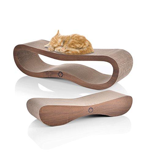 Canadian Cat Company C10117 Mega Sparpack, Orbit und Sattelite 2.0 im Set mit Katzenminze, Qualitäts-Pappe, Kratzmöbel, XXL, braun