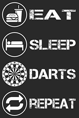 Eat Sleep Darts Repeat - Darts Notizbuch: DIN A5 Kariert 120 Seiten | Planer Tagebuch Notizheft Notizblock Journal To Do Liste | Dartspieler ... Weihnachten Adventskalender Geburtstag