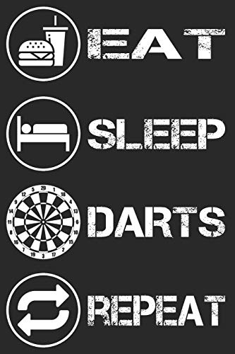 Eat Sleep Darts Repeat - Darts Notizbuch: DIN A5 Kariert 120 Seiten | Planer Tagebuch Notizheft Notizblock Journal To Do Liste | Dartspieler ... Weihnachten Adventskalender Geburtstag