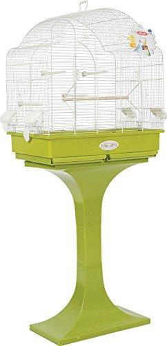 Zolux Louise sur Pied Cage pour Perruches Calopsittes/Conures Olive 68,5 x 36 x 135 cm