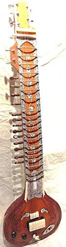 Indian handgefertigt ~ Elektrische Sitar Shri Ravi Shankar Stil Designer tun Holz gratis String & Mizrab + Tasche
