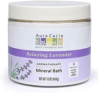 Mineral Bath-Lavender Fields Aura Cacia 16 oz Bath Salt