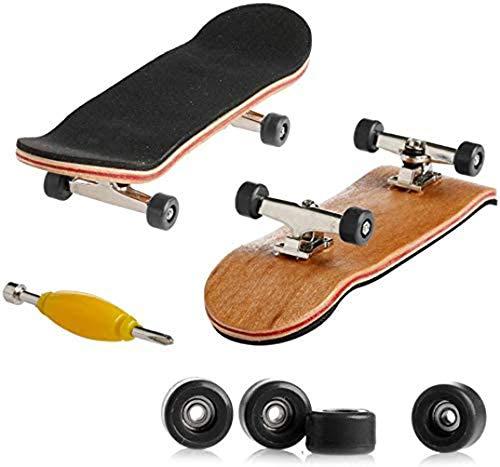 ALWWL Fingerboard, Finger Skateboards, Mini Diapasón, Maple Wood DIY Assembly Skate, con Caja, Toy Juegos de Deportes Niños